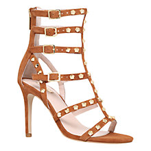 Buy Carvela Gloss Studded Suede High Heel Sandals, Tan Online at johnlewis.com