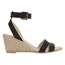 Buy Mint Velvet Flo Wedge Heeled Sandals, Black Online at johnlewis.com