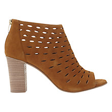 Buy Mint Velvet Melissa Cut Out Peep Toe Sandals, Brown Online at johnlewis.com