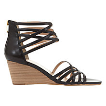 Buy Mint Velvet Ellie Cross Strap Wedge Heeled Sandals Online at johnlewis.com