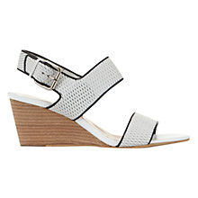 Buy Mint Velvet Marcy Wedge Heeled Sandals, White Leather Online at johnlewis.com