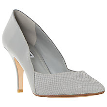 Buy Dune Alyvia High Stiletto Heeled Court Shoes, Grey Patent Online at johnlewis.com