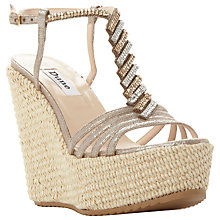 Buy Dune Manifique Platform Wedge Heeled Sandals, Pewter Online at johnlewis.com