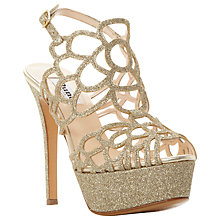 Buy Dune Magique Platform Stiletto Sandals, Gold Online at johnlewis.com