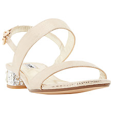 Buy Dune Ninah Block Heeled Sandals, Gold Online at johnlewis.com