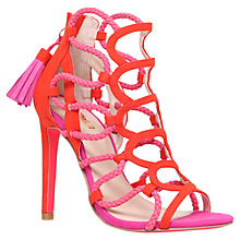 Buy Carvela Gabriel Caged Stiletto Sandals, Red Comb Online at johnlewis.com