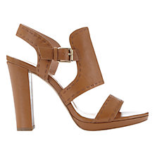 Buy Mint Velvet Edie Block Heeled Sandals, Brown Leather Online at johnlewis.com