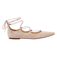 Buy Mint Velvet Naomi Cross Strap Pumps, Pale Pink Suede Online at johnlewis.com