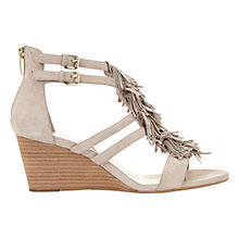 Buy Mint Velvet Iona Wedge Heeled Sandals, Neutral Leather Online at johnlewis.com