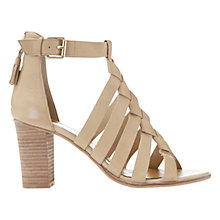 Buy Mint Velvet Hope Block Heeled Sandals, Neutral Leather Online at johnlewis.com