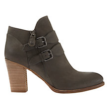 Buy Mint Velvet Peggy Buckle Block Heeled Ankle Boots, Grey Online at johnlewis.com