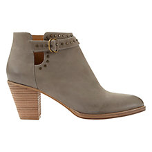 Buy Mint Velvet Zita Block Heeled Ankle Boots, Taupe Nubuck Online at johnlewis.com