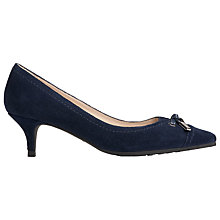 Buy L.K. Bennett Clara Kitten Heeled Court Shoes, Denim Suede Online at johnlewis.com