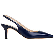 Buy L.K. Bennett Florita Slingback Court Shoes, Denim Patent Online at johnlewis.com