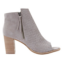 Buy Mint Velvet Sadie Block Heeled Ankle Boots, Mink Suede Online at johnlewis.com