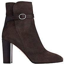 Buy L.K. Bennett Kiely Block Heeled Ankle Boots, Charcoal Suede Online at johnlewis.com