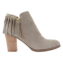Buy Mint Velvet Summer Block Heeled Ankle Boots, Stone Online at johnlewis.com