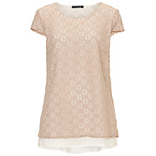 Buy Betty Barclay Lace Layered Top, Beige/cream Online at johnlewis.com