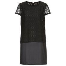 Buy Betty Barclay Short Sleeve Layered Tunic Top, Black Online at johnlewis.com