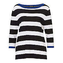 Buy Betty Barclay Striped Top, Black/White Online at johnlewis.com