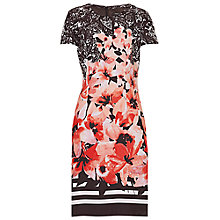 Buy Betty Barclay Floral Print Dress, Brown/Cream Online at johnlewis.com