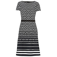 Buy Betty Barclay Graphic Print Dress, Black/White Online at johnlewis.com