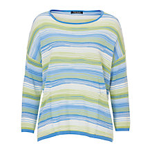 Buy Betty Barclay Candy Striped Oversized Jumper, Blue/Green Online at johnlewis.com