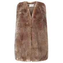 Buy Windsmoor Faux Fur Gilet, Mink Online at johnlewis.com