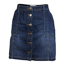 Buy Fat Face Carrie A-Line Skirt, Denim Online at johnlewis.com