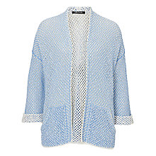 Buy Betty Barclay Open Knit Edge-to-Edge Cardigan, Frosted Blue Online at johnlewis.com