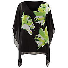 Buy Windsmoor Floral Kaftan Top, Black/Multi Online at johnlewis.com