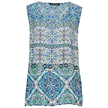 Buy Betty Barclay Sleeveless Printed Blouse, White/Blue Online at johnlewis.com