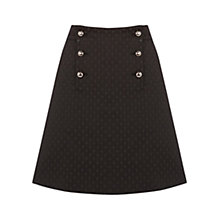 Buy Oasis 60s Button A-Line Skirt, Black Online at johnlewis.com