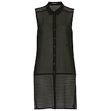Buy Betty Barclay Chiffon And Net Blouse, Black Online at johnlewis.com