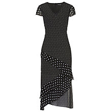 Buy Betty Barclay Chiffon Print Midi Dress, Black/White Online at johnlewis.com