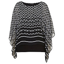 Buy Betty Barclay Poncho Effect Blouse, Black/White Online at johnlewis.com