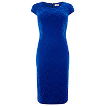 Buy Windsmoor Lace Shift Dress, Cobalt Online at johnlewis.com