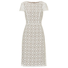 Buy Betty Barclay Graphic Print Dress, Cream/Taupe Online at johnlewis.com