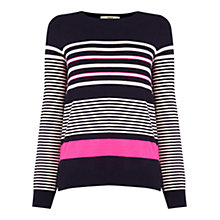 Buy Oasis Multi Stripe Jumper, Navy/Multi Online at johnlewis.com