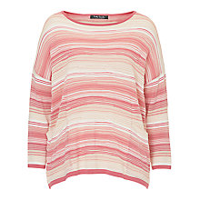 Buy Betty Barclay Candy Stripe Oversized Jumper, Pink/Beige Online at johnlewis.com