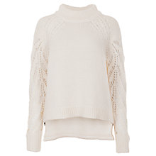 Buy French Connection Kora High Neck Jumper, Winter White Online at johnlewis.com