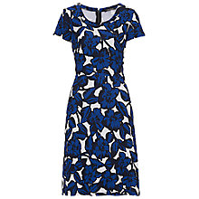 Buy Betty Barclay Floral Print Jersey Dress, White/Blue Online at johnlewis.com