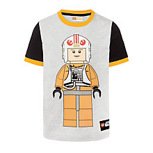 Buy Star Wars Boys' Lego Pilot T-Shirt, Grey Online at johnlewis.com