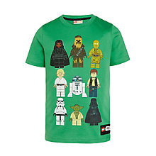 Buy LEGO Star Wars Character T-Shirt, Green Online at johnlewis.com