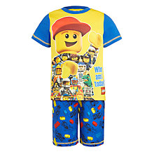Buy LEGO Children's Shortie Pyjamas, Yellow Online at johnlewis.com
