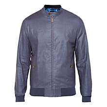 Buy Ted Baker Ryder Bomber Jacket, Navy Online at johnlewis.com
