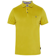 Buy Ted Baker Piccalo Textured Knit Polo Shirt, Lime Online at johnlewis.com