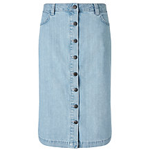 Buy Minimum Edle Denim Skirt, Light Blue Online at johnlewis.com