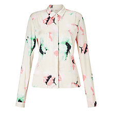 Buy Numph Suzume Printed Shirt, Coral Almond Online at johnlewis.com
