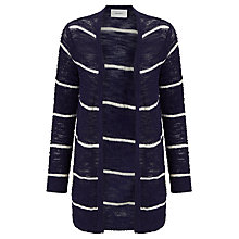 Buy Sita Murt Stripe Textured Cardigan, Navy Online at johnlewis.com